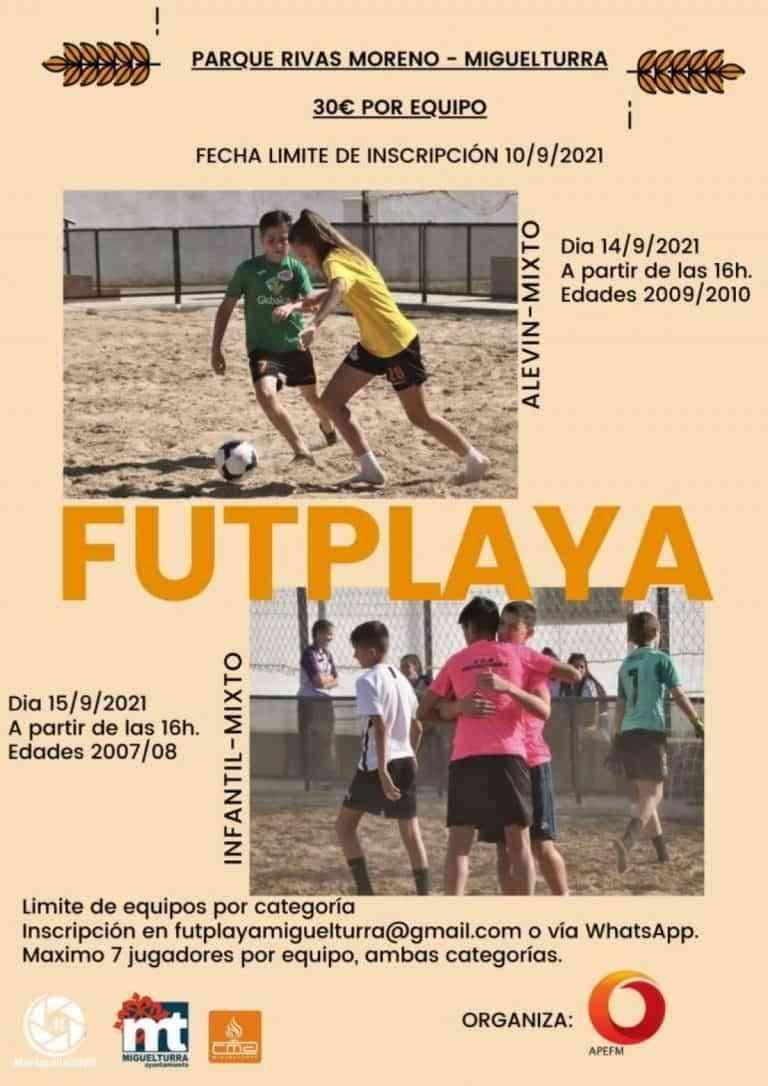 Futplaya este 14 y 15 de septiembre en los campos de arena del parque Rivas Moreno de Miguelturra