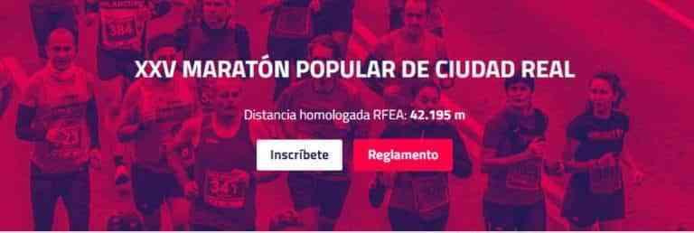 La XXV Maratón Popular de Ciudad Real tendrá lugar el próximo 24 de octubre