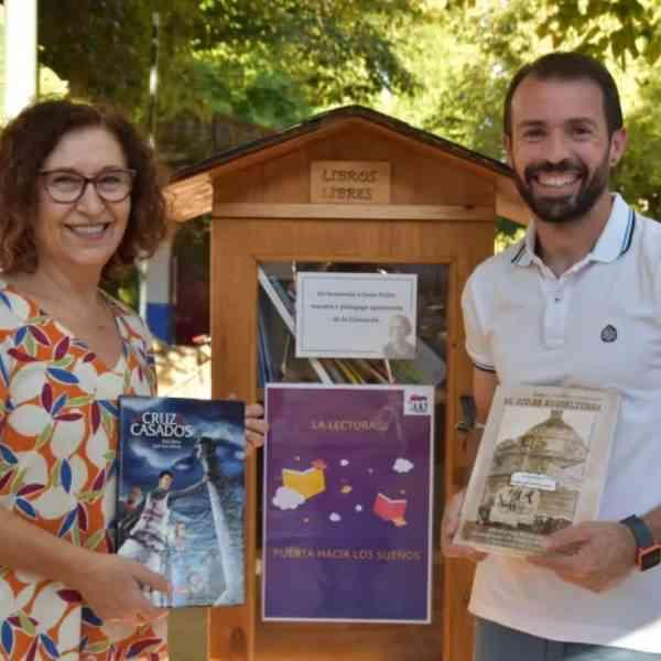 Inaugurado el primer «Biblioparque, Justa Freire»en el parque infantil Rivas Moreno de Miguelturra